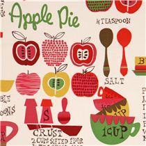 cream-pink kitchen fabric \'Oh My Apple Pie\' by Alexander Henry ...