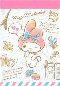 Cute My Melody Eiffel Tower Macaron Mini Note Pad