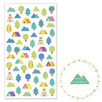 cute tree mountain tent gold metallic embellishment stickers by Mind Wave  sc 1 st  Modes4u & cute tree mountain tent gold metallic embellishment stickers by ...
