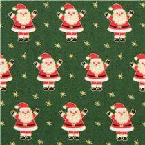 Dunkelgr Ner Mini Weihnachtsmann Glitzer Stoff Andover Usa
