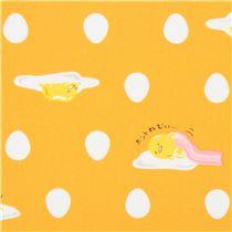 orange gudetama egg yolk shape laminate fabric sanrio japan sanrio