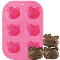 pink Hello Kitty silicone Muffin mold cake mold Bento Accessories