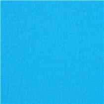 Tela de lona lisa en color azul celeste liso de Kokka Japn Telas