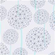 Tela blanca con círculo forma flores de Michael Miller Allium fb94034290b59