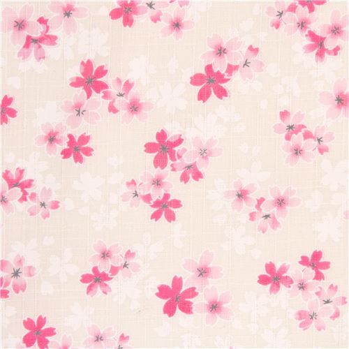 Light cream structured pink white cherry blossom flower dobby fabric light cream structured pink white cherry blossom flower dobby fabric from japan mightylinksfo