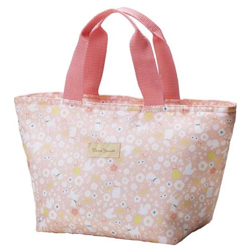 Light pink flower animal thermo lunch bag for bento boxes and light pink flower animal thermo lunch bag for bento boxes and bottles from japan mightylinksfo